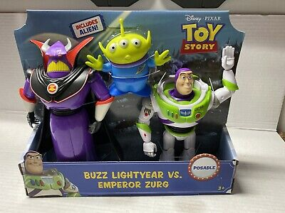 Toy Story Buzz Lightyear Vs Emperor Zurg Includes Alien Disney Pixar