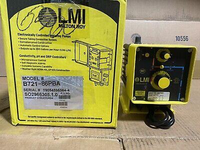 Lmi B721-86pba High Viscosity Metering Pump 2.5 Gph 100 Psi Pulse Control