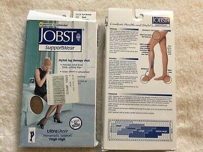 Jobst Ultra Sheer Closed Toe Pantyhose Thigh High 8-15 Compression Sun Bronze Ne