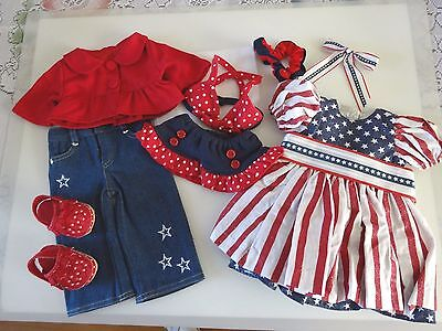 "NEW-DOLL CLOTHES-PATRIOTIC Dress/Pants Set- Lot #175 fit 18""Doll such as AG Doll"