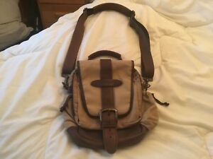 L.L. bean Vintage waxed cotton Continental Field Bag