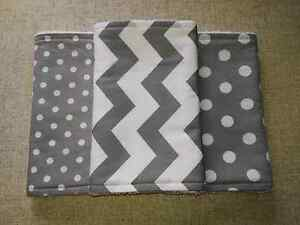 Set of 3 burp cloths - handmade Maryland Newcastle Area Preview