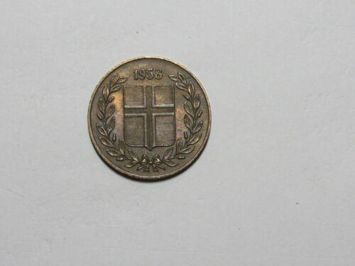 Old Iceland Coin - 1958 5 Aurar - Circulated