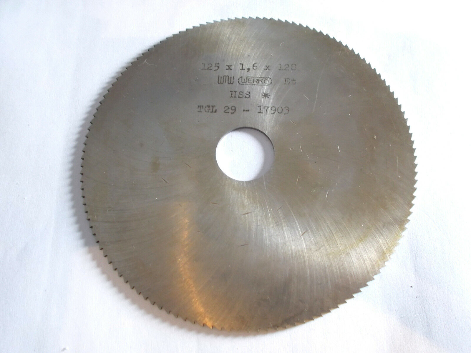 Scheibenfräser , Metallkreissägeblatt 125 mm , verschiedene Breiten  , HSS