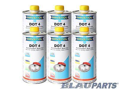 RAVENOL DOT 4 Brake Fluid - SAE J1703, J1704, ISO 4925 - Case of 6 Liters
