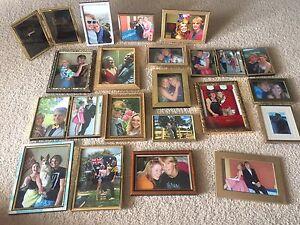 Photos frames bulk lot 24 gold brass wooden wedding party decoration Queanbeyan Queanbeyan Area Preview