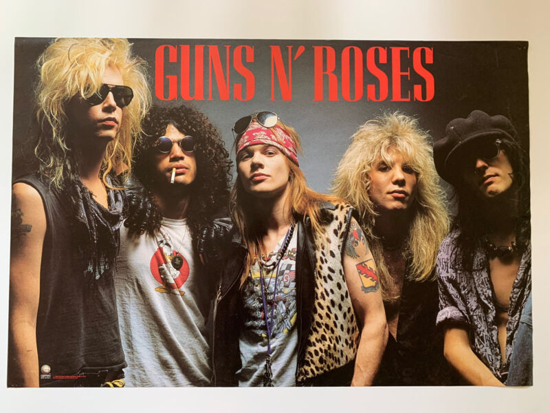 "Original 1988 Guns N' Roses Appetite Promotional Rock Poster 36"" X 24"" Axl Rose"
