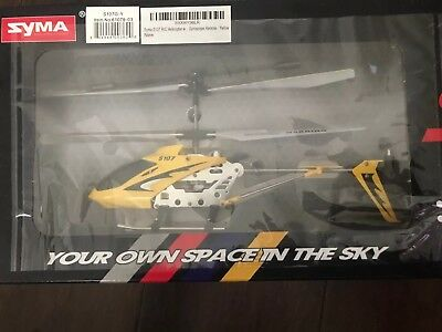 Syma S107G Gyro Metal Series Mini Helicopter Remote Control RC Yellow 3 Channels