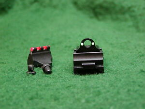 Thompson Center Hawken Renegade Etc Ghost Ring Fiber Optic Front/Rear Sight Set