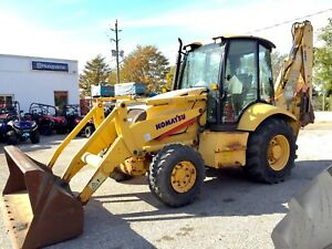 2006 Komatsu WB140 4x4 Backhoe - Finance for $649/mth