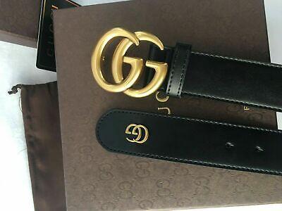 Gucci Black belt Leather  double G buckle size 110cm