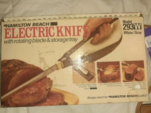 vintage electric knife 293al in original box