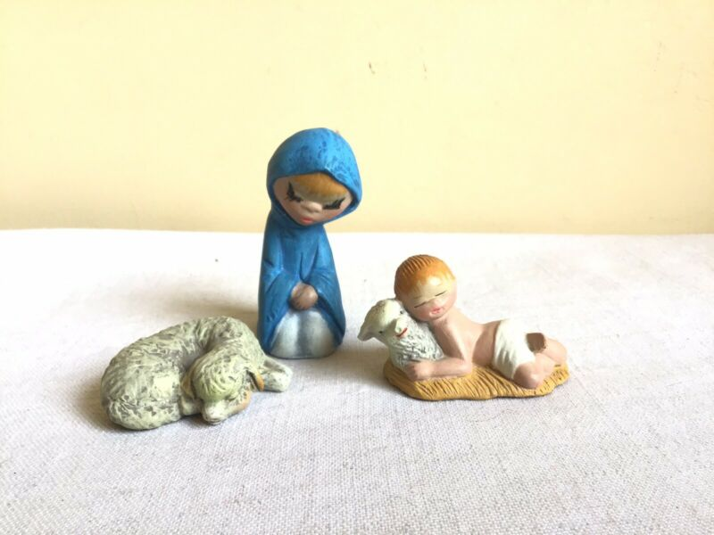 Vintage Mirete Christmas Nativity Mid Century Modern Replacement Figurines Spain