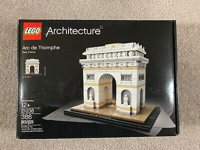 Lego Architecture Arc de Triomphe 21036 set - Brand New - Factory Sealed Retired