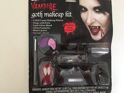Vampire Goth Makeup Kit Halloween Costume Accessory - Goth Halloween Makeup
