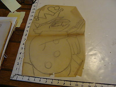 Vintage Puppet Marionette paper: drawling or trace of PUNCH
