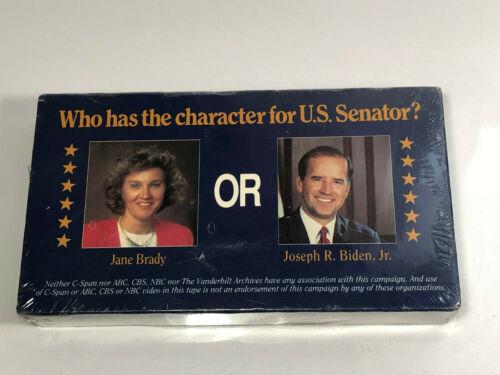 Jane Brady VS Joe Biden 1990 US Senate VHS Tape Hear Both Candidates for Senator