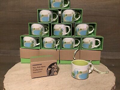 Starbucks You Are Here Collection Ornament WAIKIKI MINI Mug 2 oz NEW NIB