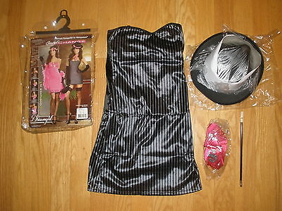 NEW WOMENS SUPER SEXY 6PC GANGSTER/GORGEOUS 2 IN 1 HALLOWEEN COSTUMES SIZE SMALL