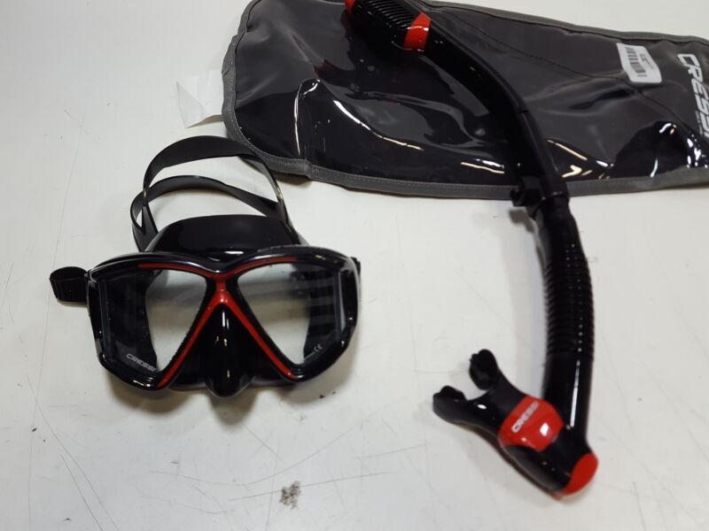 Cressi Pano 3 & Supernova Dry Combo, Black/red