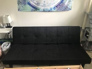 Black sofa bed couch