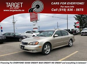 2001 Infiniti I30 Luxury w/Sunroof, Only 98Kms ***