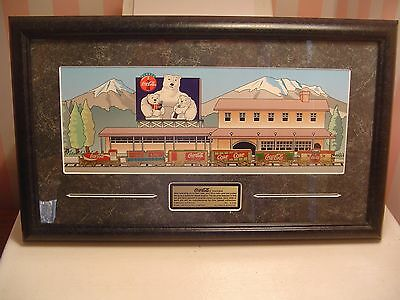 Coca Cola Train Set 1997 Pin Set Framed Limited Edition #589