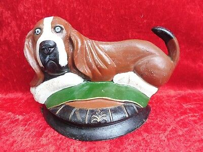 Beautiful Iron Figure __ Dog (Cocker Spaniel)__ Iron Painted__33cm_ Ü.3kg __