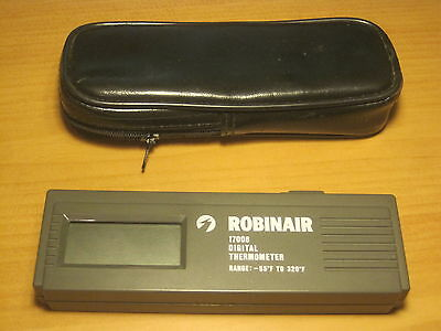 Robinair 17006 Digital Thermometer -55 To 320 Degrees Fahrenheit F W Soft Case