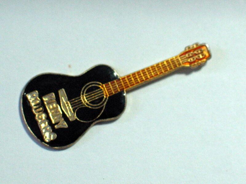 Vintage Kenny Rodgers Black  Guitar  Enamel Pin ( lg)