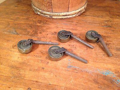 Antique Cast Iron Wheels Industrial Brass Cart Factory Wheels