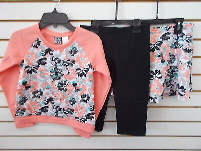 Girls Pogo Club 3Pc Coral  Black    White Set Size 7 8   14 16