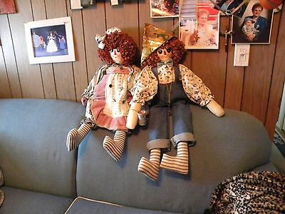 """RAGGeDY ANN & ANDY COLLECTIBLE ADULT HANDMADE DOLLS 31"""""""