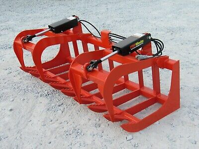 Kubota Tractor Attachment 72 Dual Cylinder Root Grapple Bucket - 179 Ship