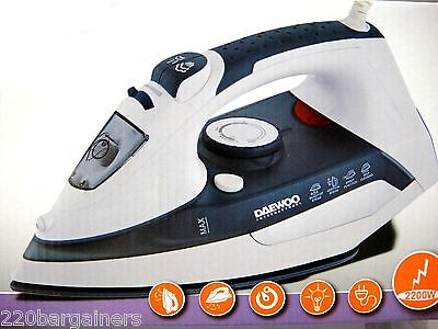 Daewoo Self Cleaning 220 Volt Steam Iron 220v for Europe Asia Africa 2200W