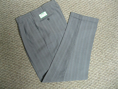 Stance Mens Gray Pinstripe Pleated Pants 30 32 33 34 36 38 40 X  32  34 -