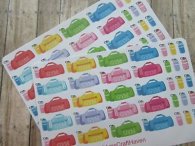 35 Gym/ Work Out Planner Stickers- Perfect For Any Planner-