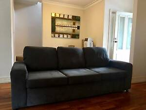 New Condition! 3 Seater Navy Fabric Sofa Balmain Leichhardt Area Preview