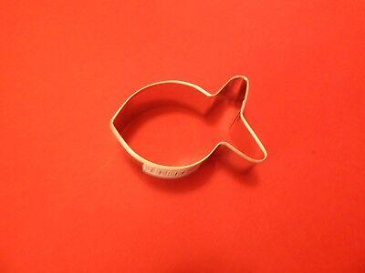 Ann Clark Gold Fish 3 Inch  Cookie Cutter  Tin Plated Steel USA
