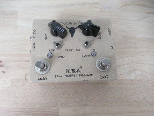 RARE HBE HomeBrew Electronics DOS Mos 2 Knob Dual Mosfet Pre-amp Pedal