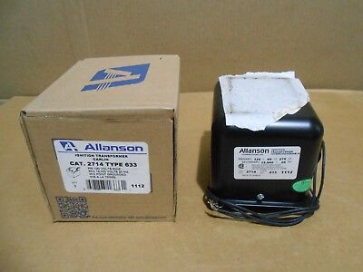 1 Nib Allanson 2714633 Ignition Transformer 120v 20ma Mid Pt Grounded 7 Avail