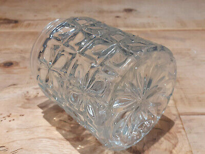 Attractive Vintage Retro Clear Glass Ceiling Lamp Shade Decorated Cylinder Screw