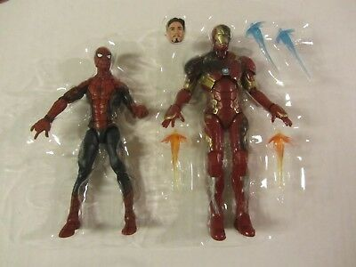 Iron Man Civil War (MARVEL LEGENDS LOOSE  CIVIL WAR  SPIDER-MAN & BATTLE DAMAGE IRON)