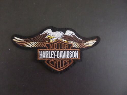 """HARLEY-DAVIDSON"""" MOTORCYCLES  EMBROIDERED IRON ON PATCHES  2-1/2 X 4-3/4"""