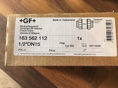 Georg Fischer 163562104 12 Threaded Socket Cpvcepdm Spring Check Valve