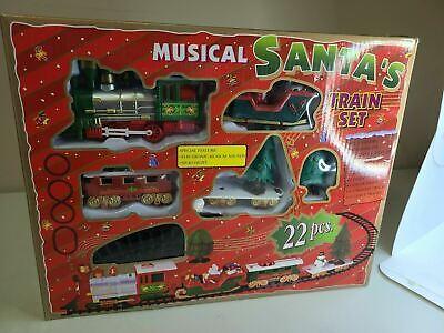 Koudhug Electronic Musical Sound Headlight Santas 22 Pieces Train Set