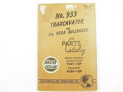 Cat Caterpillar 933 933a Parts Manual Book 11a1-up 41d Bulldozer