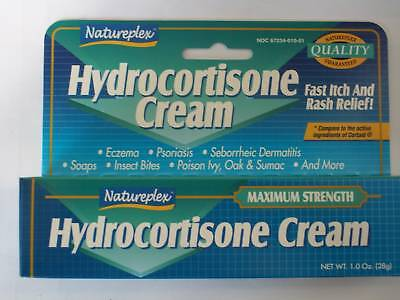 BEST DEAL 2 Tubes Hydrocortisone Cream Relief for Itching Eczema Psoriasis