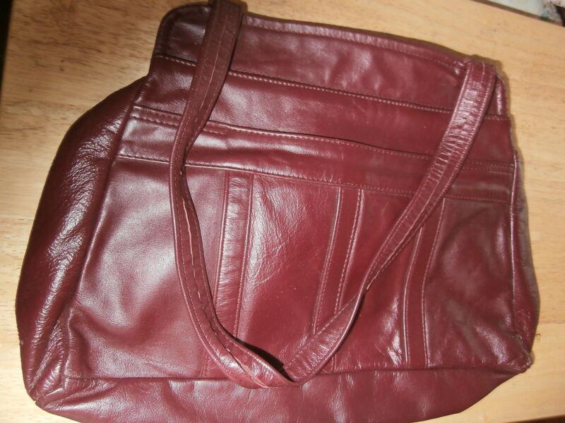 Leather Purse Burghundy