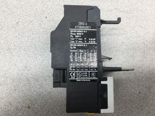 USED EATON OVERLOAD RELAY ZB12-4 XT0B004BC1